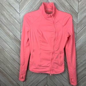 Zella peach pink zip up jacket